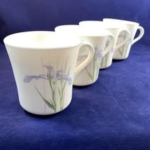 Corning Shadow Iris Coffee Mugs Lot of 4 C Handle - $17.33