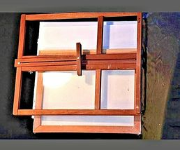 Vintage Wooden Desk Easel with 4 new canvasAA19-1432 image 6