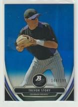 Trevor Story 2013 Bowman Platinum Blue Refractor Serial #144/199 - $6.68