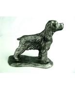Vintage pewter setter, spaniel or retriever dog figurine 80's - $9.85