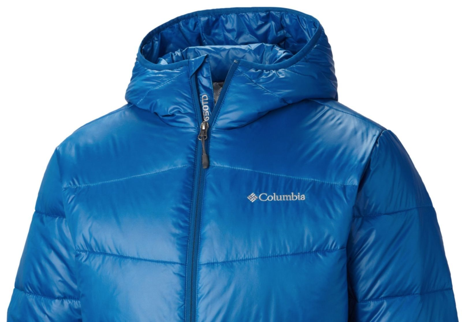 COLUMBIA Mens BIG SIZE 1X Gold 650 TurboDown Hooded Jacket Winter Down Coat