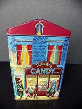 Vtg 2000 Hersheys Village Series Canister #1 Candy Store Tin England - $4.28