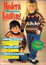Modern Machine Knitting Dec 1988 Magazine Christmas Novelties & Sweaters - $5.69
