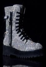 NEW In BOX Billionaire Bling Boot Club Exx Size 7 WOW! SHIIINYYY image 9