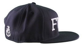 Crooks & Castles F.W.U Fu*k with Us Dark Navy Snapback Baseball Hat NWT image 3