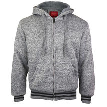 Maximos Men's Athletic Soft Sherpa Lined Fleece Zip Up Hoodie Sweater Jacket image 3