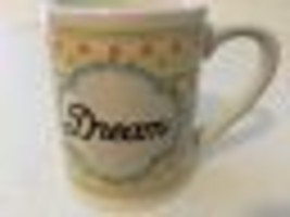 """DREAM"" GIBSON Inspirational Ceramic Coffee Tea Mug Cup 12 oz Pastel Floral New - $19.95"