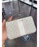 NWT Michael Kors Jet Set Item Large Top Zip Wristlet Clutch Powder Blush... - $55.95