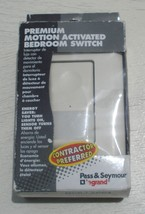 PASS & SEYMOUR PREMIUM MOTION ACTIVATED SWITCH MCB-LACC4 ALMOND - $14.05