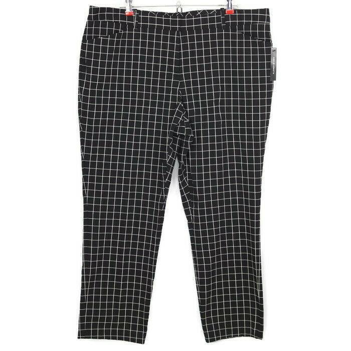 2141349f804d Worthington Womens Pants Slim Leg Fit Size 18 Black White Ankle Length  Stretch - $48.26