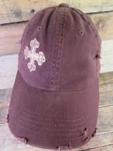 KF Ministries Brown Distressed Cross Adjustable Adult Hat Cap - $8.90