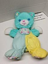 Playskool Microban Gentle Touch Bear Plush Baby Toy 1997 Hasbro Nylon Ma... - $19.90