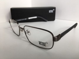 New MONTBLANC MB 427 MB427 014 57mm Silver Gray Eyeglasses Frame Italy - $190.46