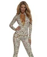 Zipfront Money Print Catsuit Women's Pimp Dollars Bodysuit - $49.95