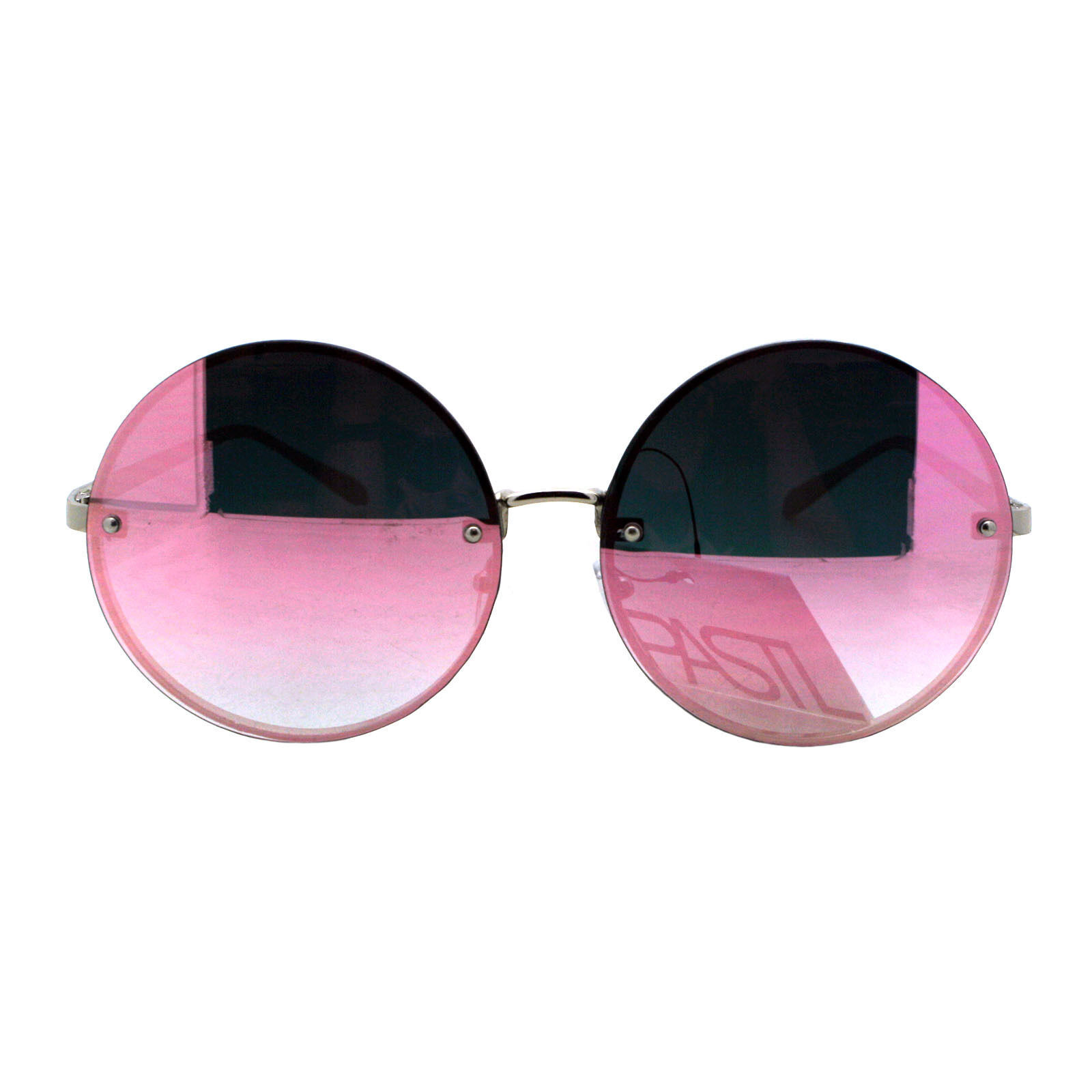 PASTL Super Oversized Round Sunglasses Womens Pink Mirror Lens UV 400 image 13