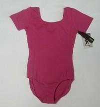 Bloch CL5462 Mulberry Short Sleeve Leotard Leo Size 8/10 8 10 Child - $32.55