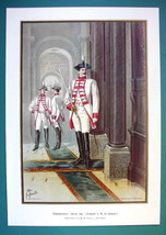 German Army Body-Guard Of H.M. Empress. 2nd Platoon - Color Litho Print - $19.80