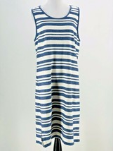 Matty M Women's Blue White Striped Knee Length Sleeveless Dress Size XL - $14.85
