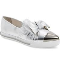 Miu Miu Cap Toe Hidden Wedge Sneakers Shoes Silver 40 - $503.85 CAD