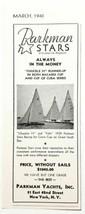 1940 Print Ad Parkman Stars Sailboats Yachts New York,NY - $8.83