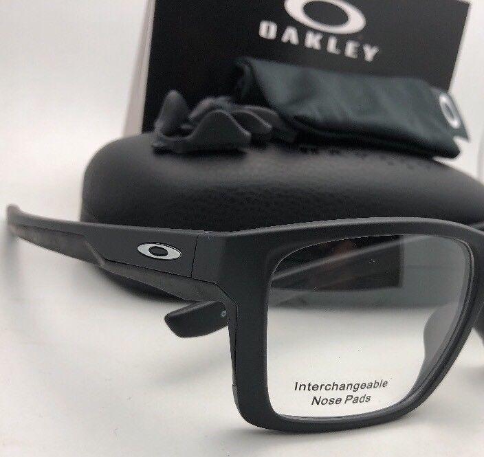 d4fc368fe9f OAKLEY Eyeglasses MAINLINK MNP OX8128-0157 56-17 Black Interchangeable Nose  Pads