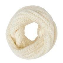 Ivory Crochet Infinity Scarf Neck Warmer