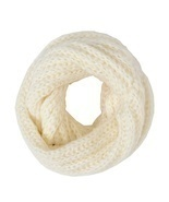 Ivory Crochet Infinity Scarf Neck Warmer - $7.94 CAD