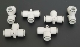 LOT OF 6 NEW SMC T-FITTINGS image 1