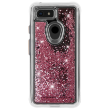 CaseMate Waterfall Case for Google Pixel 3 Rose Gold Pink Glitter Beads NEW image 1