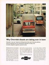 Vintage 1966 Magazine Ad Chevrolet Diesel Truck Keeping Operating Costs ... - $5.93