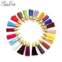10pcs/lot multicolor mixed Suede Tassel For Keychain Cellphone Straps Ch... - $29.90