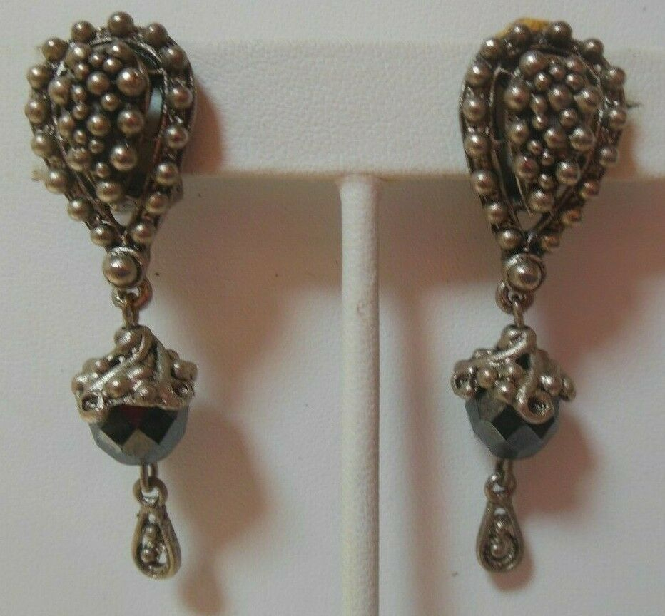 Primary image for Vintage Signed TODD ANTHONY Drop-dangle Clip-on Earrings