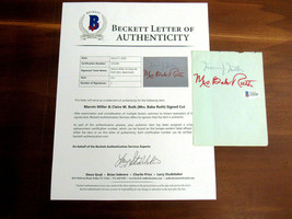 MARVIN MILLER MLBPA MRS. BABE RUTH BABE'S WIFE HOF SIGNED AUTO VTG CUT B... - $346.49