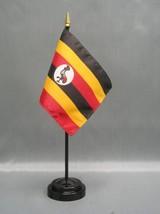 "Uganda 4X6"" Table Top Flag W/ Base New Desk Top Handheld Stick Flag - $4.95"