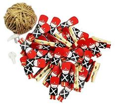 [Soldier] 50 Pcs Cute Wooden Photo Clips Craft Photo Paper Pegs Clothespins - £17.40 GBP