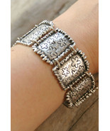 Link bracelet, Silver Boho bracelet, tribal jewelry, silver bracelet (B284) - $32.00