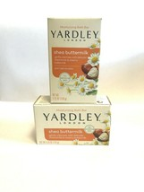 Yardley Of London Shea Buttermilk Bar Soap Chamomile Moisturizing 2 Bars - $5.95