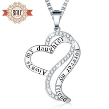 "Ado Glo ""Always My Daughter Forever My Friend"" Love Heart Pendant - $65.11"