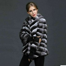 Chinchilla Fur Coat  Finest Genuine Chinchilla Skins COPENHAGEN/AMIGDALIA - $3,861.00