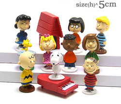 Peanuts Charlie Brown Snoopy Lucy Franklin 12 Figure Cake Topper Play set Toy - $12.92