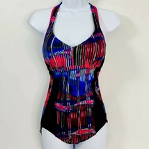 Nike Womens Size L Multi Color One Piece Bathing Swimsuit - $15.03