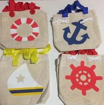 Fun Express Nautical Theme Canvas Small Tote Bags - 1 Dozen - $14.84
