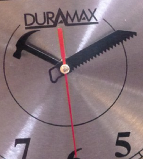 Stainless Steel Circular Blade Clock Duramax 9 and 3/4 Inches