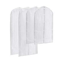 Magicfly Clear Garment Bag, Pack of 4 PEVA Suit Bags Full Zipper Garment... - $16.79