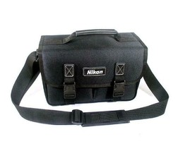Nikon Midi BAG DSLR camera shoulder carrying case Partition Used Nikon Logo image 1