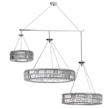 AM8003: PWG Lighting Intorno Ring Crystal Chandelier-2-3 Rings Each! $2,050+ - $6,660.00