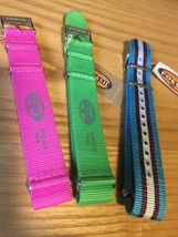NEW Fossil Genuine Lot(3)Slip-Thru & Silicone Watch Band Strap 18mm Easy... - $22.33