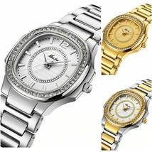 Fashionable Women Geneva Design Ladies Wristwatch Gold Diamond Quartz Watches  - $30.07