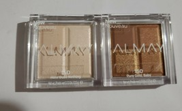 Lot 2 ALMAY Eyeshadow Quad #140 Here Goes Nothing & 150 Pure Gold, Baby - $9.74