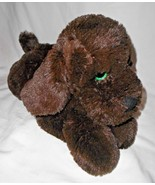 Walmart Puppy Dog Dark Brown Green Sparkle Glitter Eyes Plush Stuffed An... - $34.62